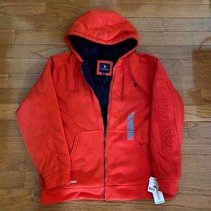 U.S. Polo Assn. Embossed Logo Sherpa Hoodie